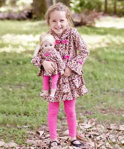 Nuovo-Dollie-Me-Girl-Bambola-Maculato-Giacca-per-American-18-034-Sz-4-6-7-8-10