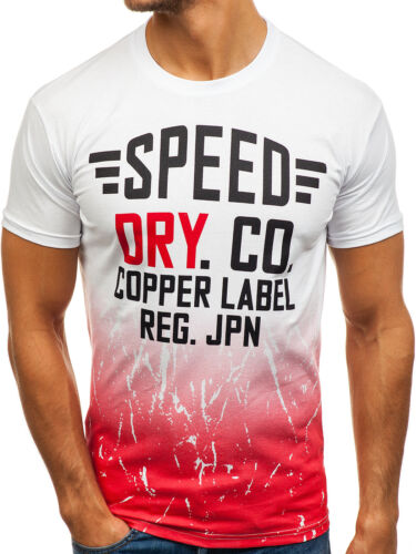 T-Shirt Hommes Manches Courtes Rond Motif Classic Slim Fit Print BOLF 3c3 impression
