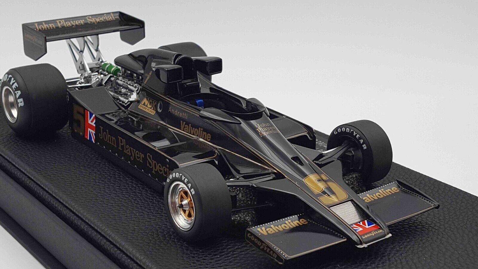 GP REPLICA FRAMTID 65533;SKAP GP007A 1 18 1977 LOUS 78 MARIO ANDRETTI Formula 1 modellL CAR