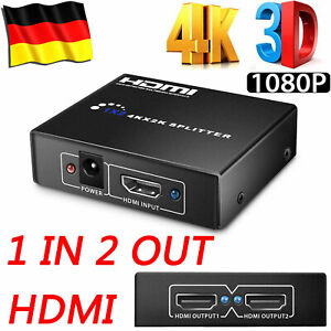 2-Port-HDMI-Umschalter-Switch-Splitter-Verteiler-1-IN-2-OUT-4K-3D-HD-1080p-Dolby