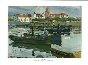 Publicite-ancienne-le-port-1931-Houilliere-issue-de-magazine