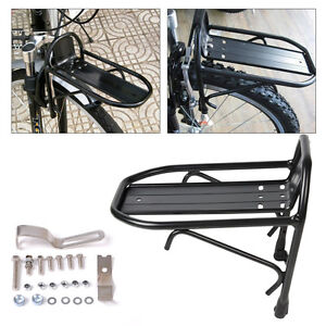 Image Is Loading Diy Black Aluminum Alloy Bicycle Bike Cycling Front