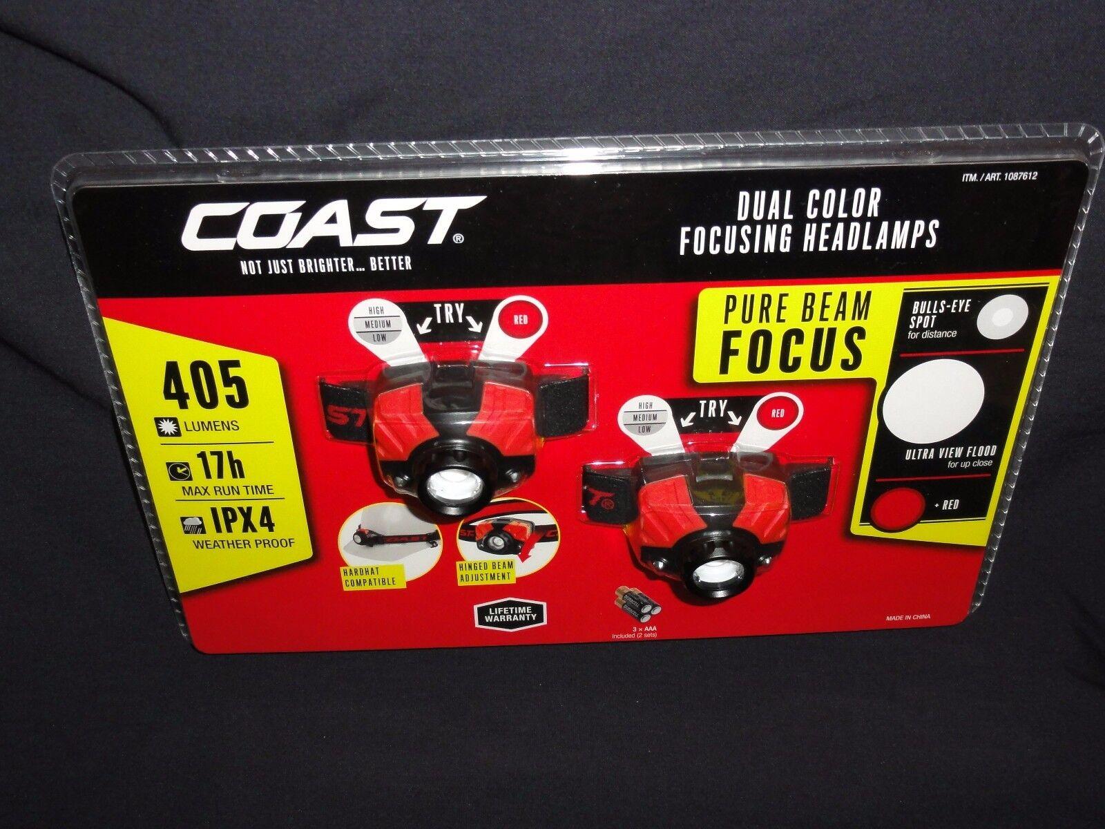 Headlamps, Dual color Focusing, 2-Set by Coast