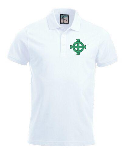 Northern Ireland  1970/'s Football Polo Sizes S-XXXL Embroidered Logo