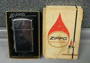 Image is loading Zippo-Slim-Lighter-No-1620-Original-Box-Not- & Zippo Slim Lighter | No. 1620 | Original Box | Not Lighting | SHIPS ...