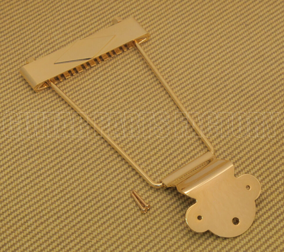 TP-0630-002 Gold 12-string Trapeze Tailpiece for Hollowbody/Archtop/Jazz Guitar