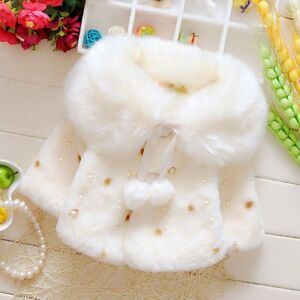 Winter-Toddler-Kids-Baby-Girls-Thick-Warm-Coat-Pearl-Fleece-Jacket-Outwear-Tops