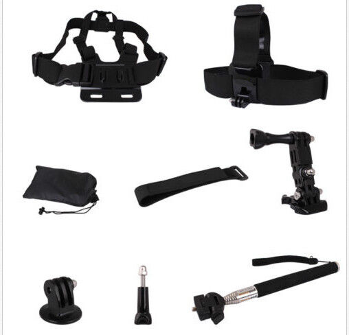 Sports 8 in One Accessories Kit Monopod Chest Strap For GoPro Hero3,3+,SJ4000