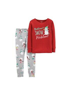 NWT Carter/'s Baby//Toddler Boy Green 2-PC Christmas Print Pajama Set 24 Months