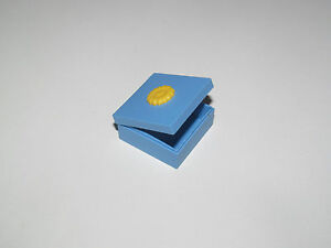 Lego ® Boite Bleue 25x25 mm avec Couvercle Tournesol Box Sunflower ref 33031
