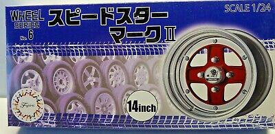 Plastic Model Building Kit # 193472 Fujimi 1//24 Scale 14inch SSR Mark II Wheel /& Tire Set