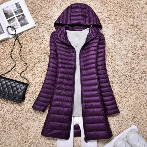 Packable Ultralight Parka Women/'s Long 90/% Duck Down Jacket Coat Overcoat Puffer