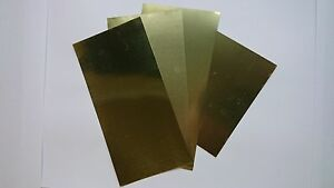 K-amp-S-258-ASSORTED-BRASS-METAL-SHIMS-4-SHEETS-001-034-002-034-003-034-AND-005-034-THICK