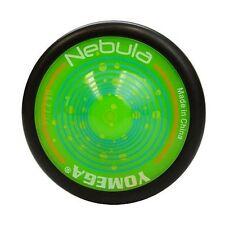 Yomega Nebula Green and Black Yo Yo  PLUS 3 FREE NEON STRINGS YEL/ORG/GREEN