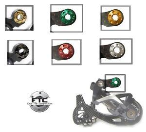 FTC-Aluminio-Shimano-XT-XTR-MECANISMO-CAMBIO-Sombra-Tornillo-ORO-PLATA