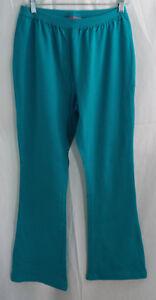 Women S Plus Size Petite Knit Bootcut Yoga Pants In Turquoise Ebay