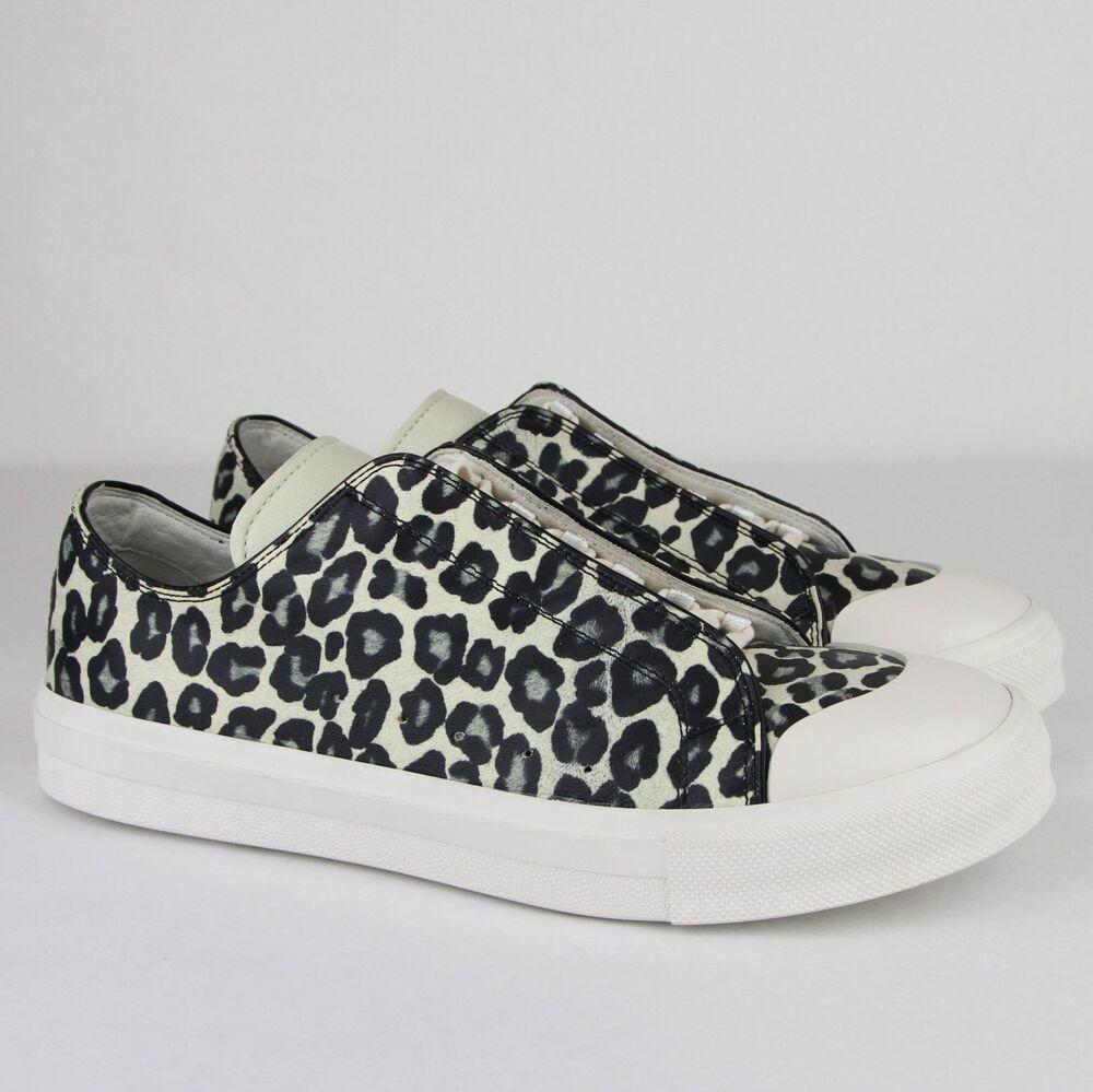 $670 Alexander Mcqueen Homme Noir/ivoire Cuir Sneaker 44 /us 10,5 462766 8436