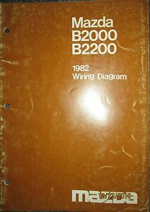 1982 mazda b 2000 b 2200 truck wiring diagram booklet manual image is loading 1982 mazda b 2000 amp b 2200 truck cheapraybanclubmaster Gallery