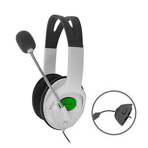 Xbox-360-Premium-Gaming-Headset-Kopfhoerer-mit-Mikrofon-fuer-XBox-360-Neu