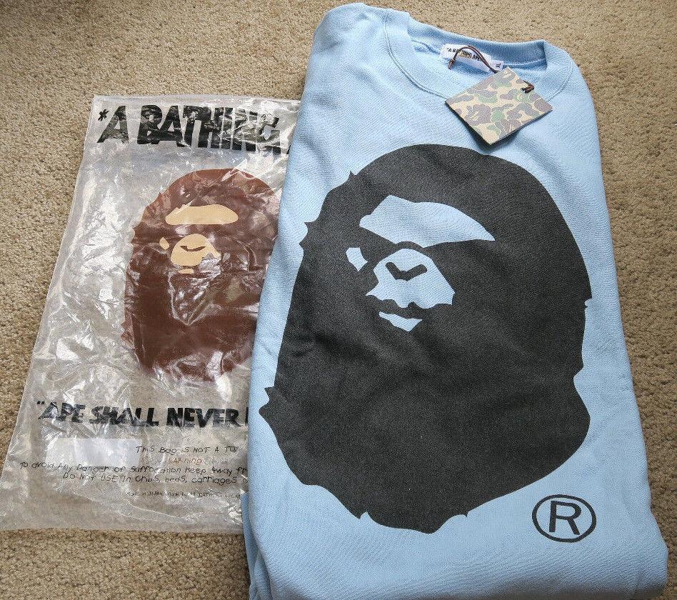 A Bathing Ape Ape Nigo Head Logo Sweatshirt Nigo Ape Vintage Bapesta f07cfe