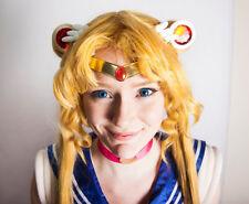 Sailor Moon PGSM Smooth Hot Pink Gem Metal Cosplay Tiara