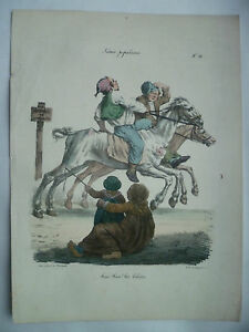 Litho-XIX-Langlume-Haie-Haie-die-Beschreibung-von-Pigal-Edme-Jean-1823