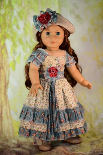 "Fits 18/"" American Girl Doll Bohemian Girl Digital PDF Dress Pattern With Hat"