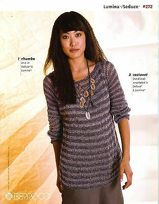 Berroco Knitting /& Crochet Pattern Book Mica #286 10 Designs for Women