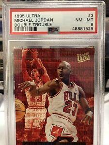 1995 Fleer Ultra Double Trouble #3 Michael Jordan Bulls HOF PSA 8 NM-MT