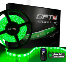 OPT7 16ft Green LED Light Strips w REMOTE 300 SMD Bright Flexible Waterproof 12v
