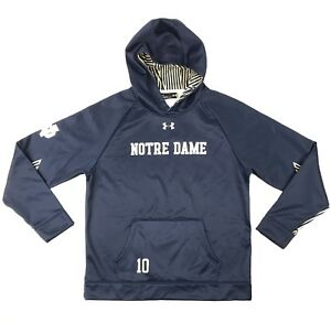 Mens Under Armour Cold Gear Hoodie Style 1293918 Notre Dame Size L Navy