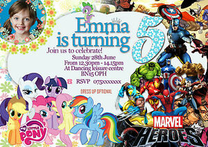 Image Is Loading Personalized Birthday Party Invitations My Little Pony Super