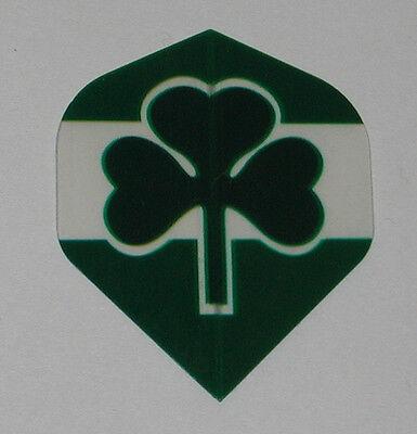 5 Sets IRISH  EIRE IRELAND  CLOVER Green Standard Dart Flights - FREE SHIP p515