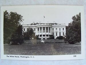 A-Mainzer-RPPC-Washington-D-C-The-White-House-Unused-Old-Photo-B-amp-W-Postcard