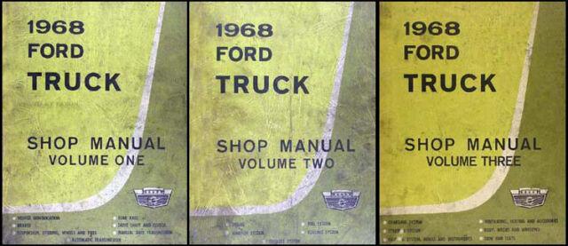 1968 Ford Truck Original Shop Manual Set 68 Pickup F100