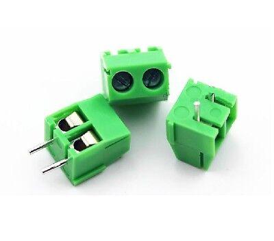 100PCS KF350-2P 3.5mm Pitch 2 pin Straight PCB Screw Terminal Blocks AHS