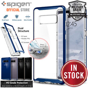 big sale 38c74 3bf1f Details about For Samsung Galaxy Note 8 Genuine SPIGEN Neo Hybrid Crystal  Bumper Case Cover