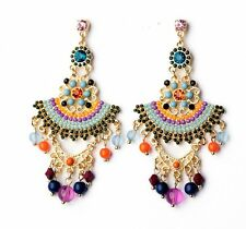 E717 BETSEY JOHNSON Bridesmaid Wedding Accessories Beaded Tassels D Earrings US
