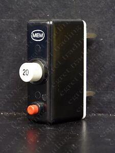 MEM QCB 5 AMP PLUG IN POP OUT MCB WITH BASE SHIELD BS 3871