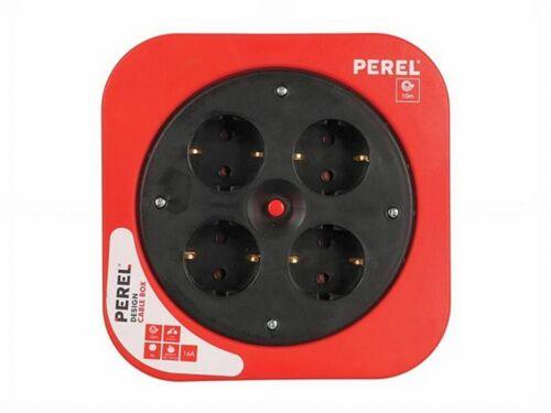 Deutsches Système Perel ecbox 10-g Design-Câble Tambour Rouge 10 m-Protection Contact