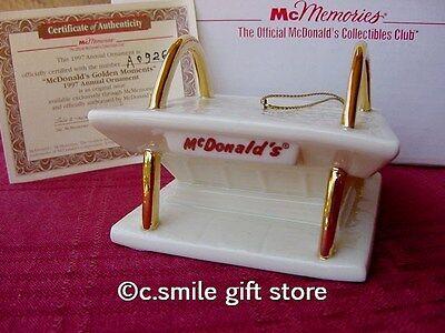 """""""McDonald's Golden Moments"""" 1997 Ornament McMemories Collectors Club LE w/COA"""