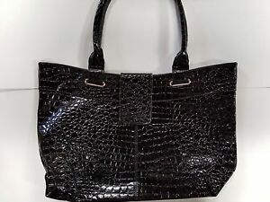 BRAND-NEW-Black-Croc-Tote-handbag