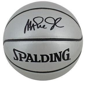 湖人魔術師約翰遜簽名迷你銀斯伯丁籃球 BAS 見證了