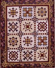 BOTM Complete Block of The Month Sampler Quilt Pattern  64in x 81in  6 Blocks