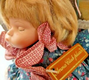 Anna-Club-Plush-1995-Sleeping-Girl-Soft-Toy-With-Original-Booklet-Tags-Rare-Toys