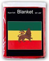 Ethiopia With Lion Flag Fleece Throw Blanket 50 X 60 - Lower Price
