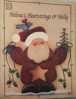 Helena's Heartstrings & Holly By Helena Cook Christmas Tole Painting Book