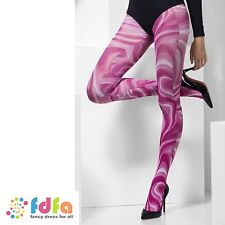 PINK MARBLE PATTERN OPAQUE TIGHTS PANTYHOSE ladies accessory womens hosiery