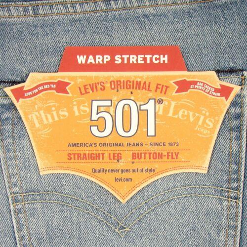 Nwt 34 34 Stretch Original X 501 Clair Levi's Jeans 191291455850 Levis Taille Bleu Neuf 7ZFCwq