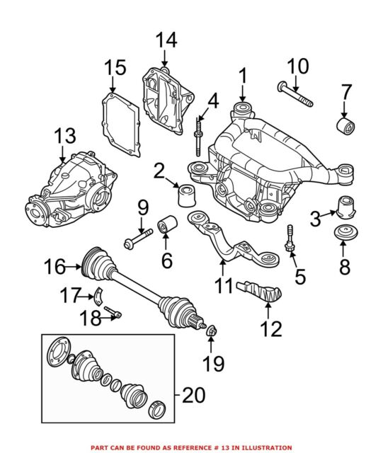 For BMW Genuine Differential Housing Rear 33102282480